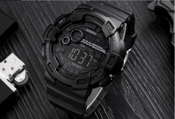Relógio De Pulso Skmei Masculino Preto Led Digital