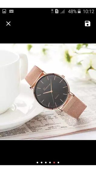 Lindo Relógio Feminino Geneva , Bem Elegante + Brinde