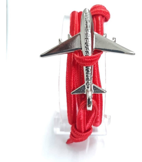 Brazalete Flat Red Silver - Remove Before Flight®
