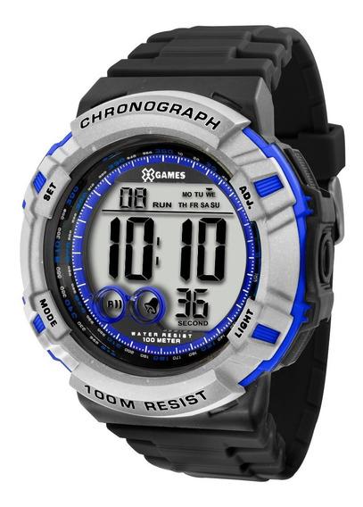 Relógio X-games Masculino Digital Xmppd363 Bxpx Prata Azul
