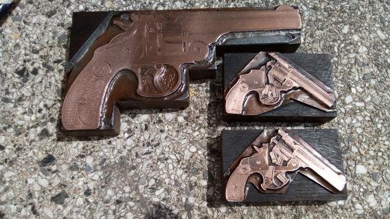 Armas Antiguas No,cuños De Imprenta Antiguos Revólveres S&w
