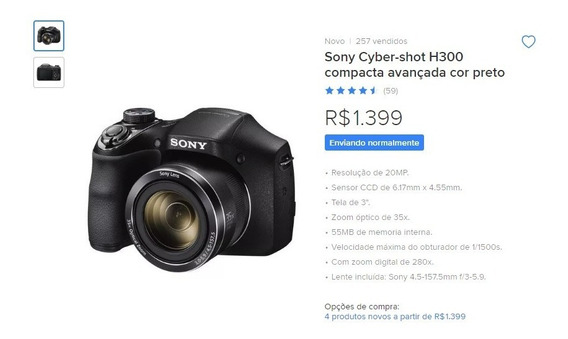 Camera Fotografia Sony Cyber-shot H300