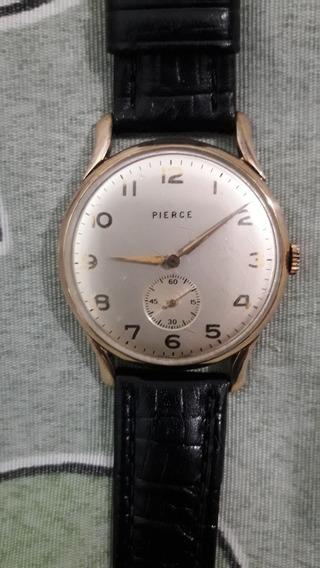 Relógio Pierce A Corda Manual, Caixa Em Plaque Extra Fina.