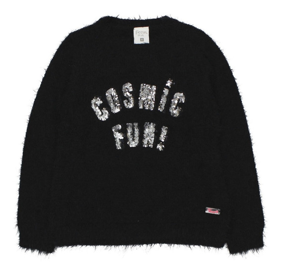 Sweater Kids Niña Cosmos Negro Ficcus