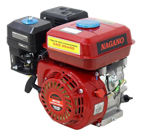 Motor A Gasolina 7hp Partida.manual Eixo 3/4 Pol 19,05mm