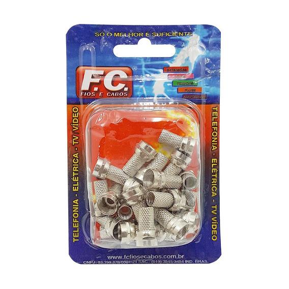Conector Rg6 Com Rosca Fc Kit C/25