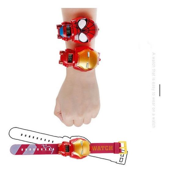 Relógio Vingadores Marvel Homem Aranha Homem De Ferro