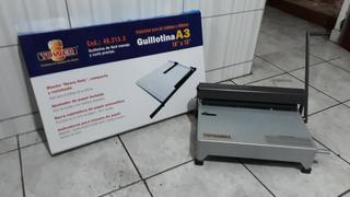 Espiraladora 15 Hojas Y Guillotina A3