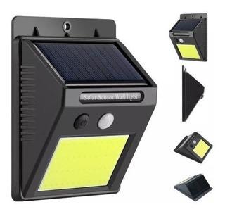Reflector Led Panel Solar Sensor Movimiento Blanco Frio 4w