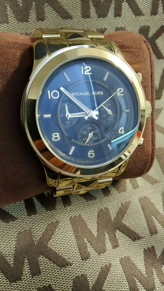 Reloj Mujer Mk 5795 Dorado Fondo Negro Usado Sin Caja