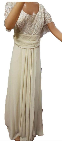 Vestido De Fiesta Nuevo, Combinado Encaje T 6