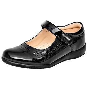 Zapatos Escolar Flats Hush Puppies Dama Piel Neg T55996 Dtt