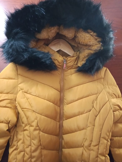 Campera Inflable Impermeable Con Piel