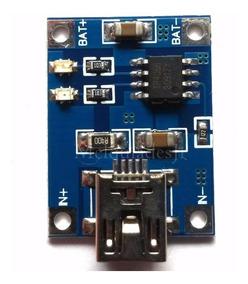 Placa Carregador De Bateria Lithium De 3,7v 1 Ah Usb