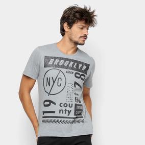 08a5e0fa1f9 Camisa Estampada Masculina - Camisa Masculino Cinza claro no Mercado ...