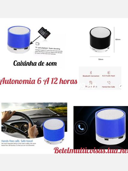 Caixinha De Som Usb Via Bluetooth Até 10 Metros.