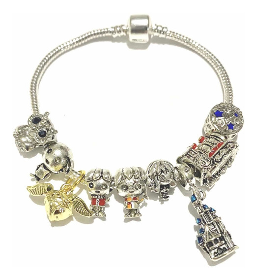 Pulsera Tipo Pandora Harry Potter Swarovski Elements