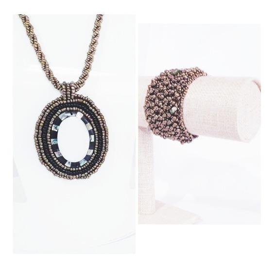 Accesorios Collar+brazalete Artesanal Regalo Mama 10 De Mayo