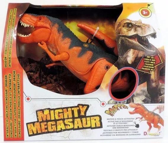 Mighty Megasaur Dinosaurio T-rex Con Luz Y Sonido Art 80089