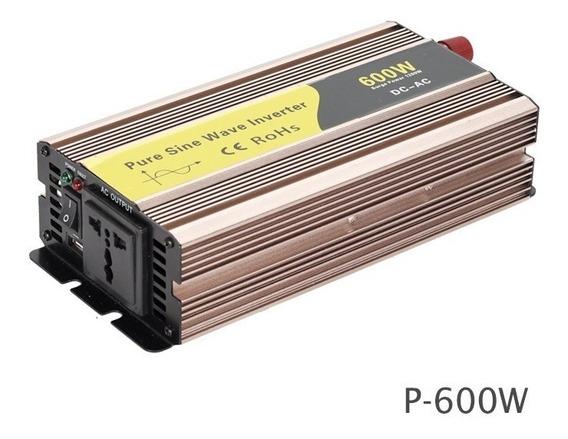 Inversor 600-1200w 24v 110v 60hz Onda Pura Off Grid
