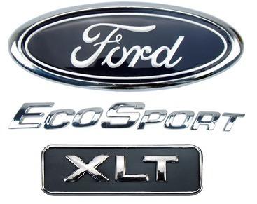Imagem 1 de 1 de Emblema Letreiro Ecosport Xlt Logo Ford Kit 3pçs Tampa Mala
