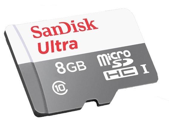 Micro Sd 8gb Sandisk Cartão Memória Ultra Original Box Sdhc