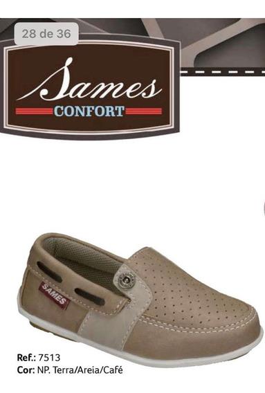 Sapato Infantil Menino - Sames - Dock Side Baby - Ref 7513