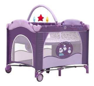 Cuna Pack & Play Baby Way Bw-611 Lila-azul