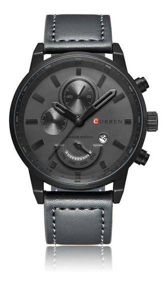 Relógio Masculino Original Pulseira Em Couro Curren Garantia