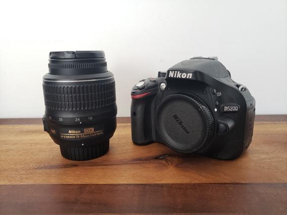 Câmera Dslr Nikon D5200 24.1 Mp + Lente Af-s Nikkor 18-55mm