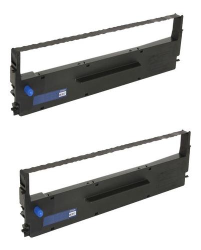 Imagem 1 de 2 de Kit 2 Fitas P/ Impressora Matricial Lx 300 Lx 400 Lx 810