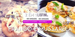 200 Unid. Mini Pizzas Congeladas - Lisfini - 2 Sabores Kit