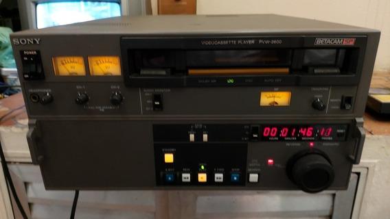Vídeo Cassete Profissional Sony Betacam Sp Pvw 2600 Funciona