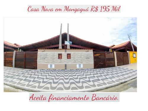 Casa Nova Linda  Em Mongaguá R$ 195 Mil.