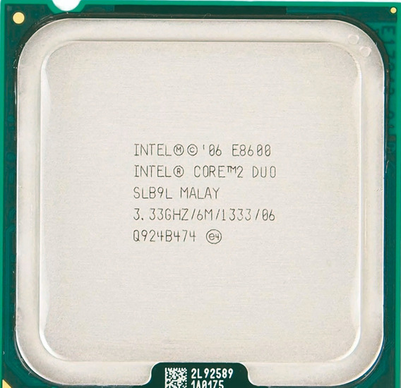 Processador Core 2 Duo E8600-3,33 Ghz-6 Mb Cache L2-1333 Fbs