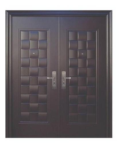Puerta De Seguridad Xe Luxury Doble Aper Der Acero 100% Ch