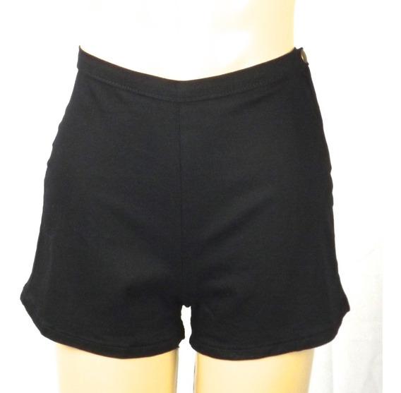 Shorts Retrô . Hot Pants . Cintura Alta . Preto