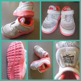 Tênis Menina Nike Branco E Laranja Tam 20