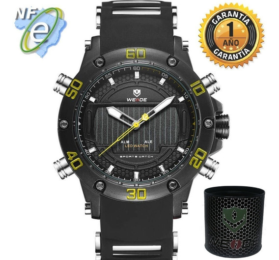Relógio Masculino Esportivo Original Analógico Digital Agua