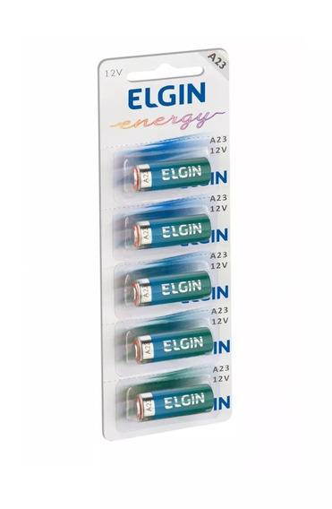 Pilhas Alcalinas Elgin A23 Cartela Com 5 12v