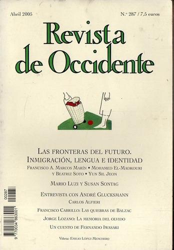 Revista De Occidente 287 - Abril 2005 Susan Sontag Iwasaki