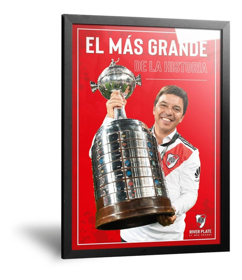 Cuadro Camisetas River Plate Gallardo Copa Libertadores 2018