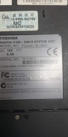 Toshiba Satellite A105-s4074 Para Reparar O Repuestos Fifty