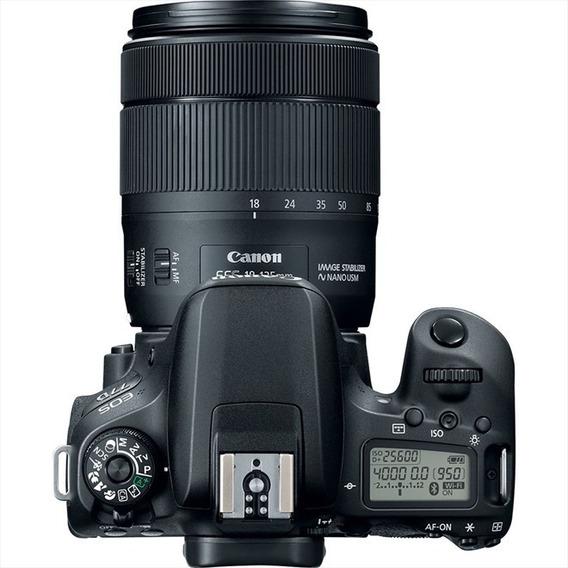 Câmera Canon Eos 77d Kit 18-135 Is Usm