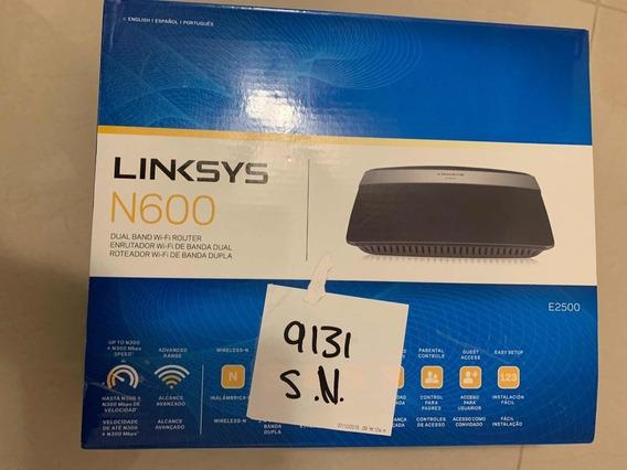 Router Linksys N600 E2500 Inalámbrico Doble Banda/ 4 Puertos