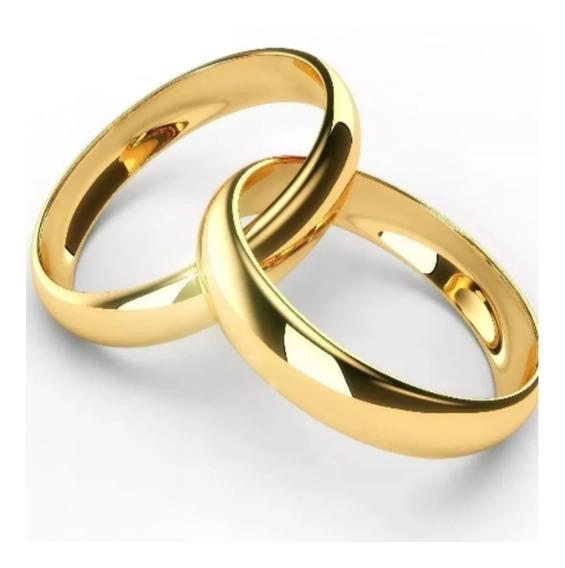 Aliança Fina De Namoro - Banhada A Ouro 18k - Frete Gratis