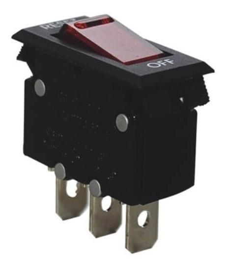 Chave Disjuntor Led Vermelho Reset St-001 125 / 250vac 10a