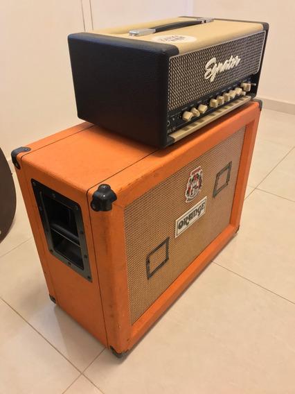 Cabeçote Egnater Rebel 30 + Caixa Orange 2x12 Celestion 30
