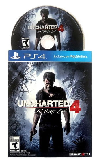 Uncharted 4 Ps4 A Thiefs End Pt/br Emb/papelão Mídia Física