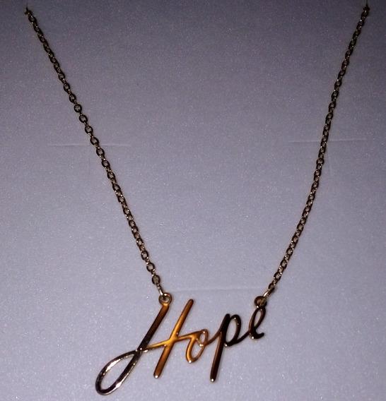 Dije Dorado Con Cadena Hope Nice